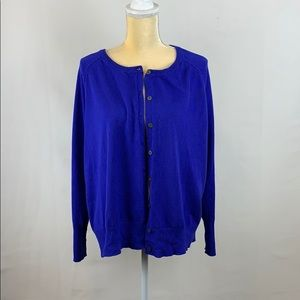 Lane Bryant Bright Blue Cardigan